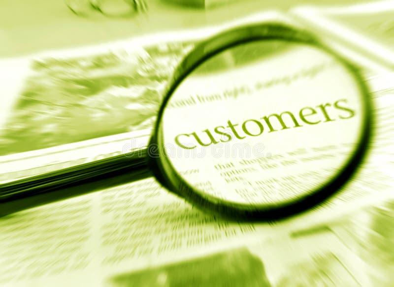 Nadruk op klanten royalty-vrije stock afbeeldingen