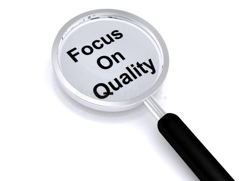 Nadruk op kwaliteit stock afbeelding