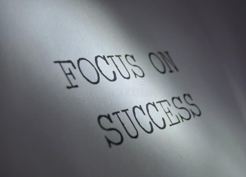 Nadruk op succes stock afbeeldingen