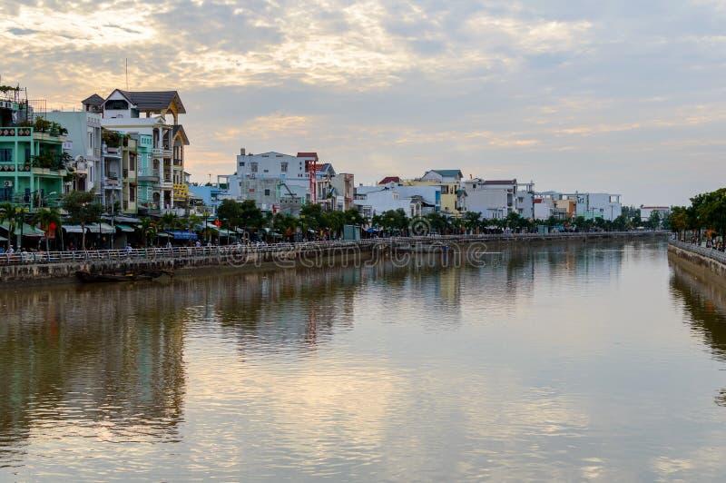 Nadrzeczni stilt domy w Mekong delcie obrazy stock