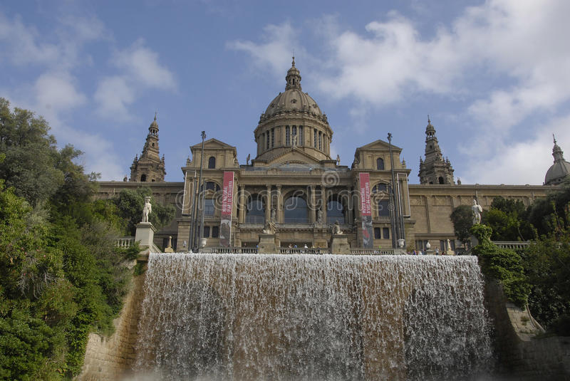 NADTIONAL MUSEM DES ARTS DE BARCELONE photo libre de droits