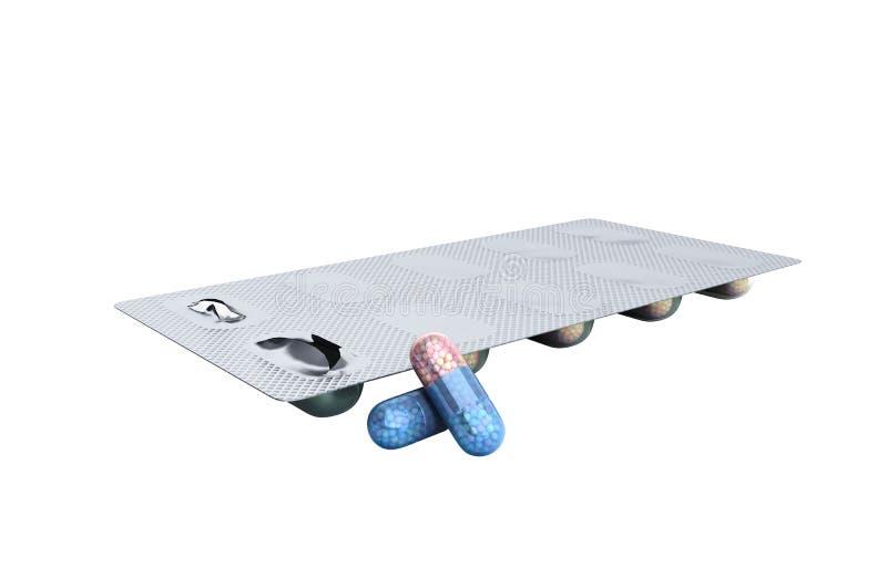 Nadużycie anabolic sterydy dla sporta bąbla paczki sterydy c obraz stock