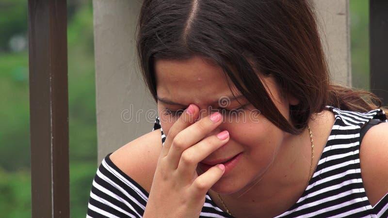 Nadużycie ofiary Lub Nastoletni dziewczyn Płakać obrazy royalty free