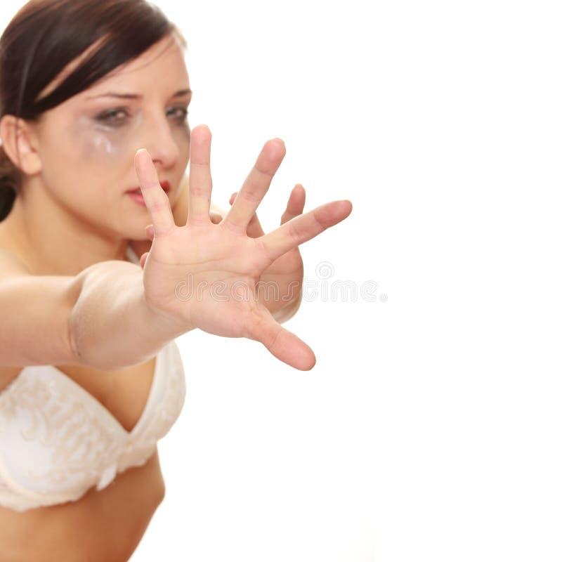 nadużywająca target2243_1_ kobieta obrazy royalty free