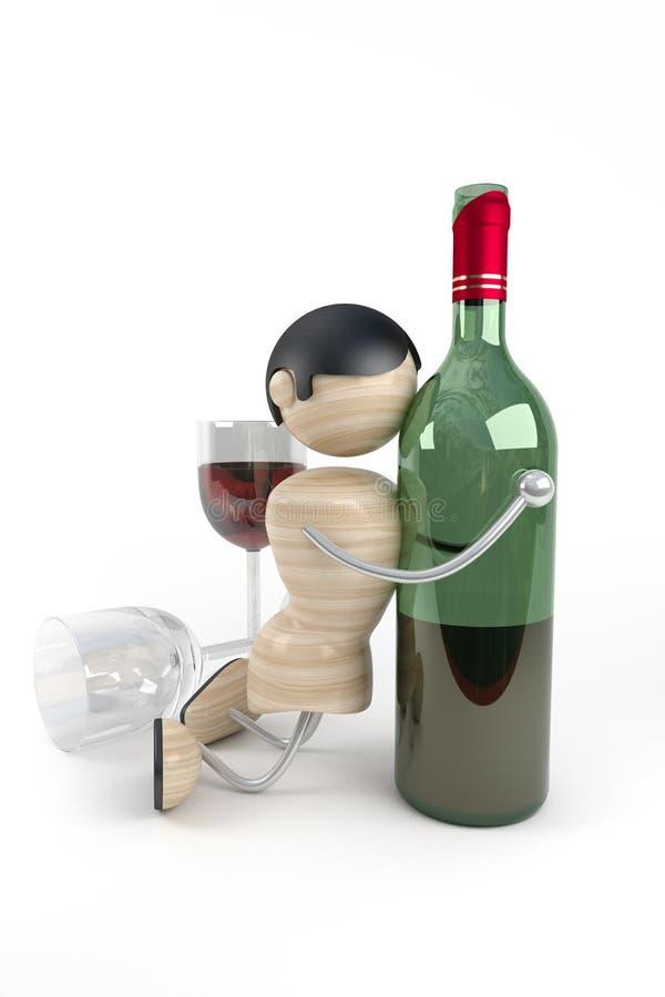 nadużywanie alkoholu ilustracja wektor