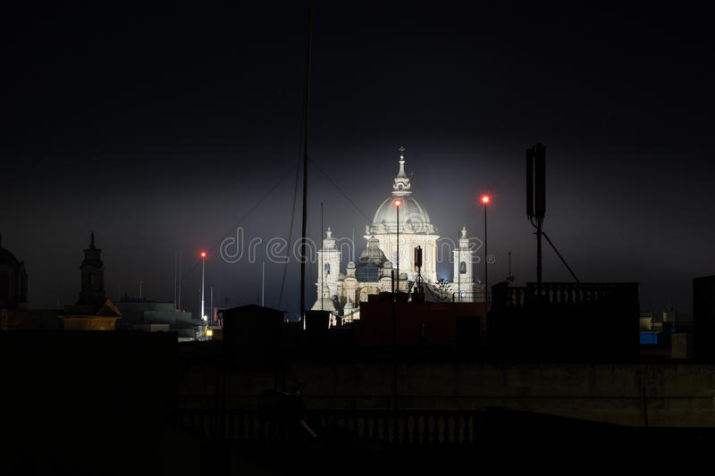 Nadur parish church. The parish church in Nadur, dedicated to St. Peter and Paul royalty free stock photography
