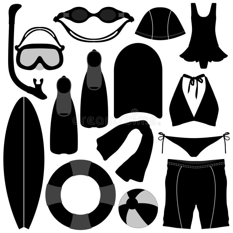 nadwodnego nurkowego wyposażenia pływacki narzędzie ilustracja wektor