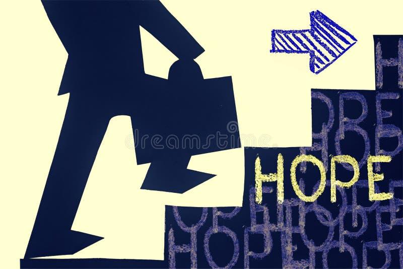 Nadzieja sukcesu pojęcie ilustracja wektor