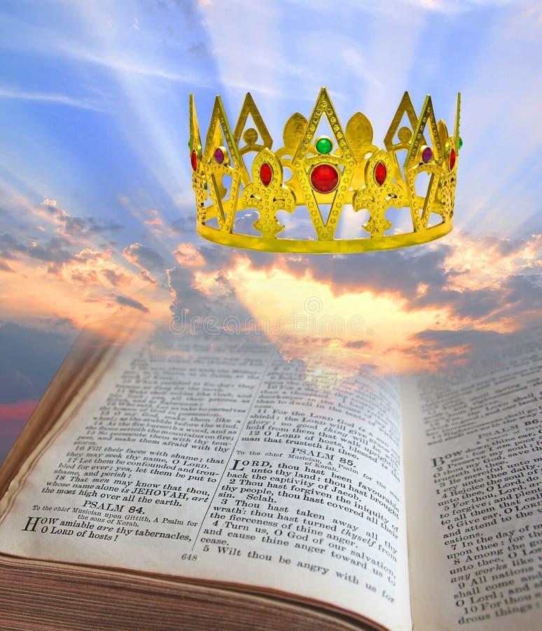 Nadziemska królestwo biblii korona fotografia royalty free