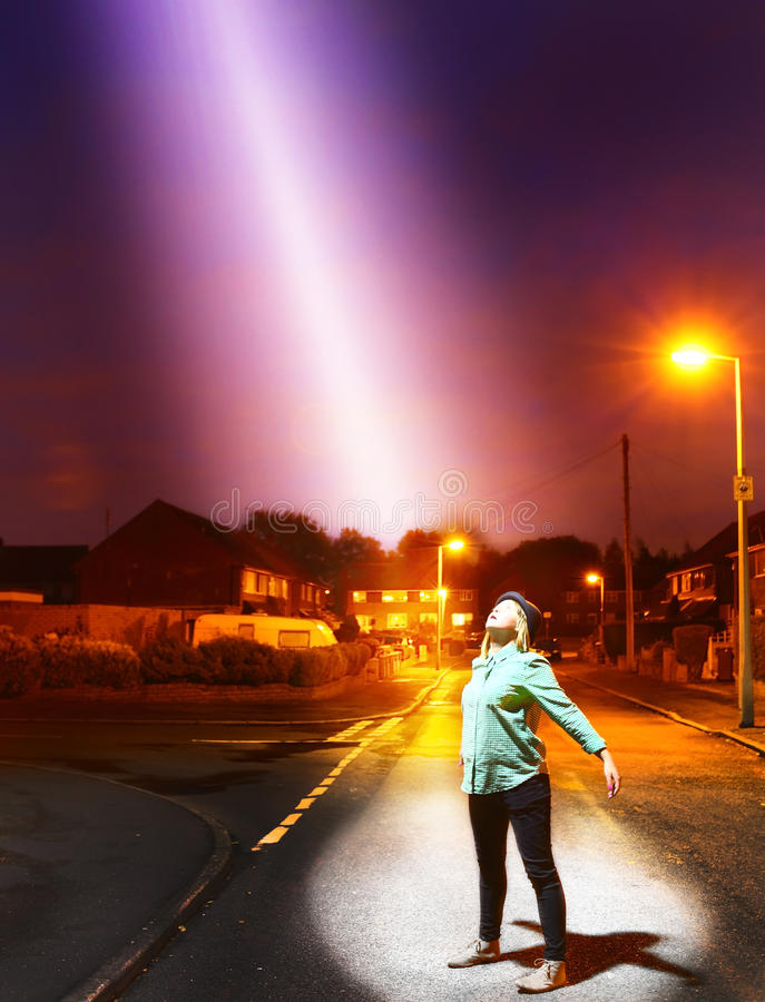 Nadziemski światło od above zdjęcia royalty free