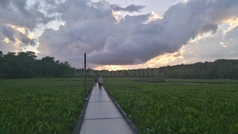 Nadziemskie chmury zdjęcie stock