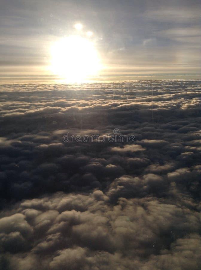 Nadziemskie chmury 2 zdjęcie stock