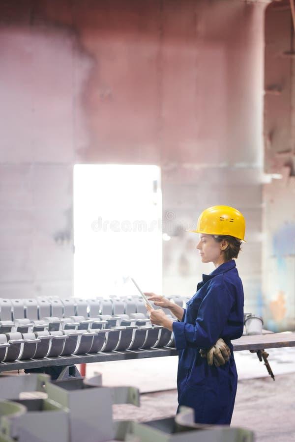 Nadzorca przy fabryką zdjęcie royalty free