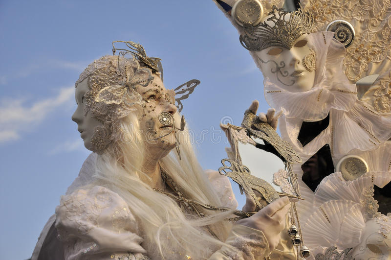 Nadzwyczajna maska w Venice karnawale obraz royalty free