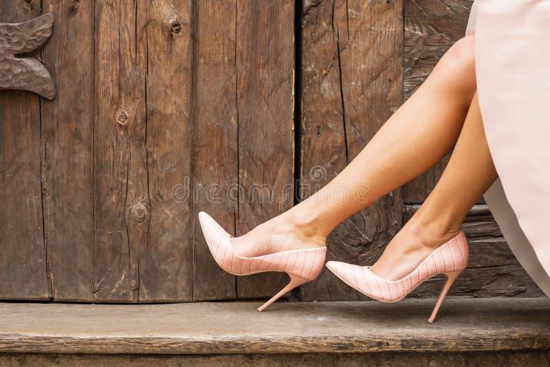 Nadzy szpilki buty obrazy stock