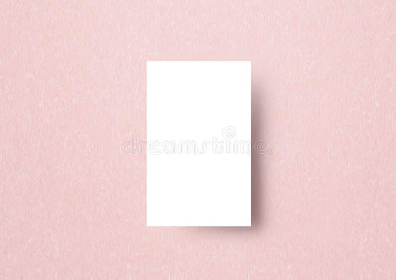 Naemcard-Modellschablone paastel rosa japanisches Papier backbround stock abbildung
