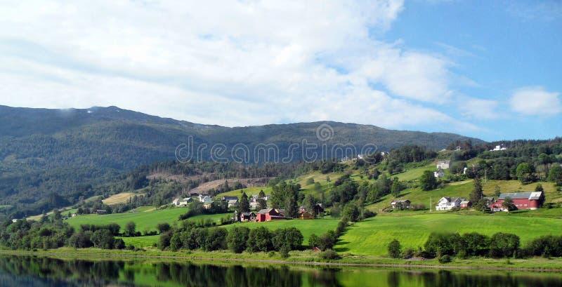 Naerofyord - Bergen Norway arkivfoton