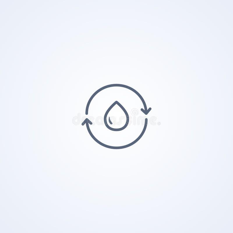 Nafciana kropla, wektorowe najlepszy szarość wykłada ikonę ilustracja wektor