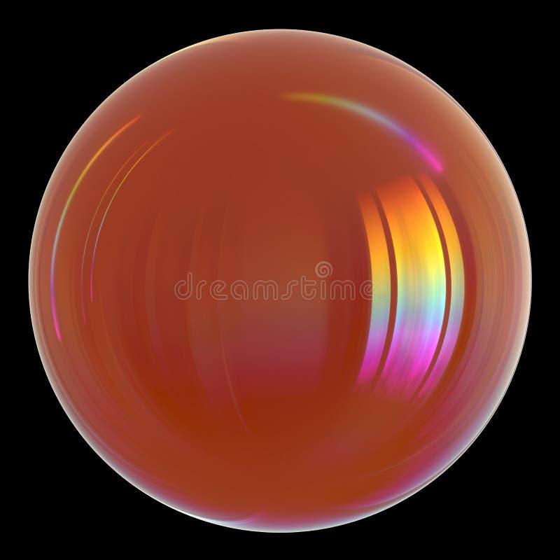Nafcianego opadowego benzyny benzyny oleju sfery piłki kropelkowa pomarańczowa glansowana ikona ilustracji