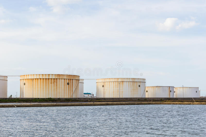 Nafcianego zbiornika lub gazu zbiornik obrazy royalty free