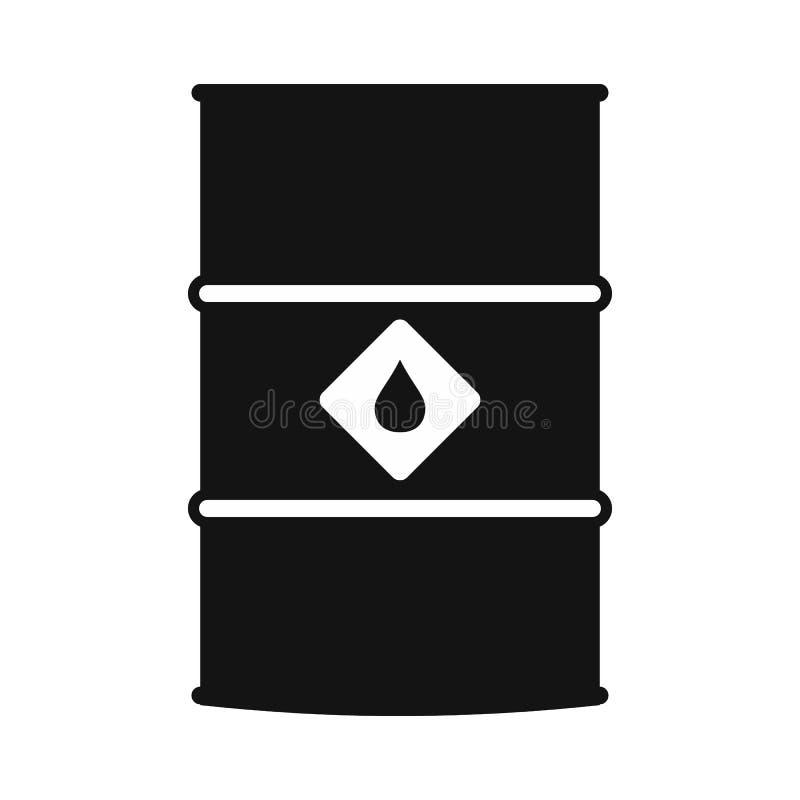 Nafcianej baryłki czerni prosta ikona royalty ilustracja