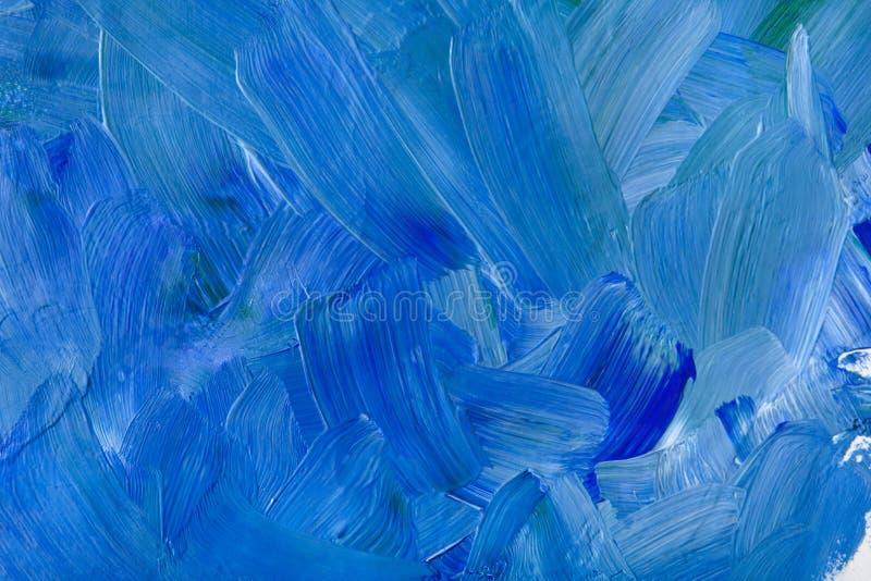 Nafcianej farby tekstura, abstrakcjonistyczny błękitny tło fotografia stock