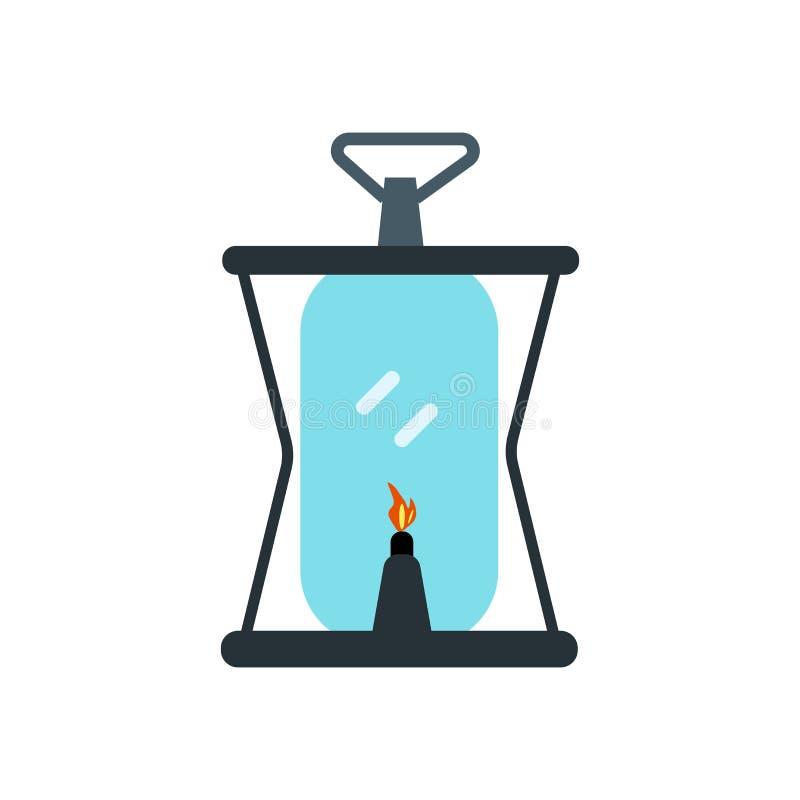 Nafcianej lampy ikony wektoru znak i symbol odizolowywający na białym tle, Nafcianej lampy logo pojęcie royalty ilustracja