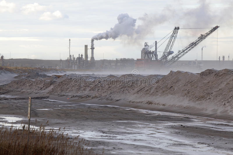 Nafciani piaski, Alberta, Kanada obrazy royalty free