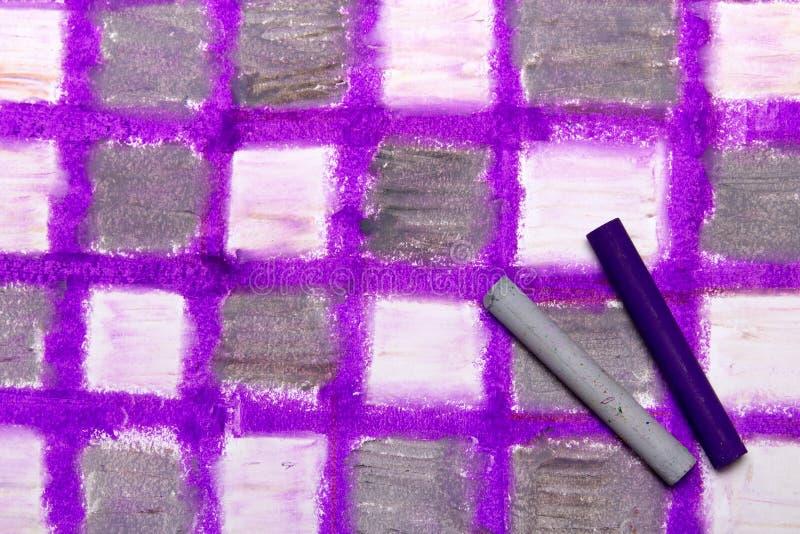 Nafciany pastelu rysunek z kwadratami zdjęcie royalty free