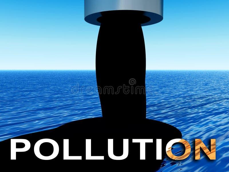 Nafciany Zanieczyszczenie 6 ilustracja wektor
