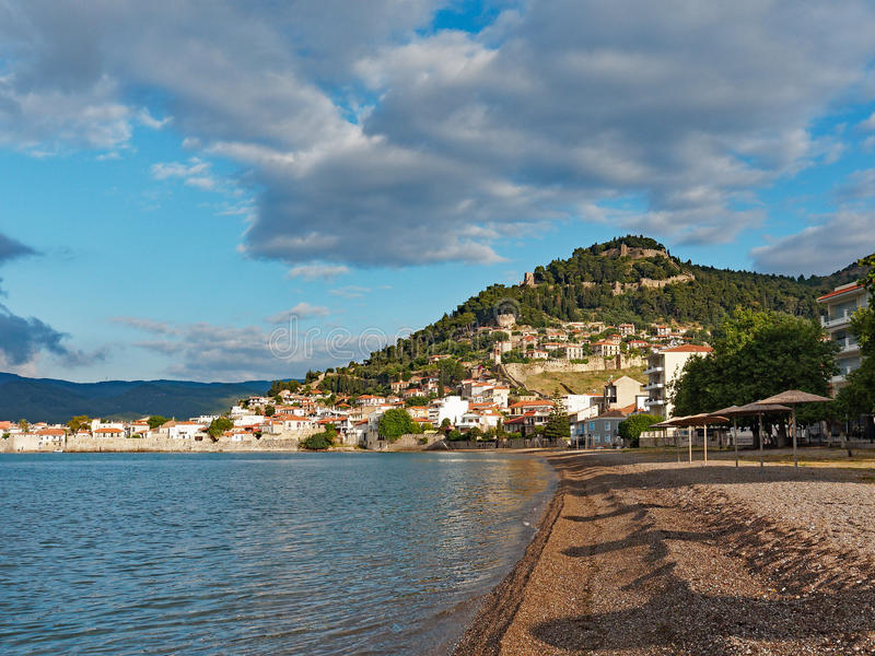 Nafpaktos, Greece. Nafpaktos, Ναύπακτος, a popular Western Greece town and rural service centre on the north of the Corinthian Gulf royalty free stock photography