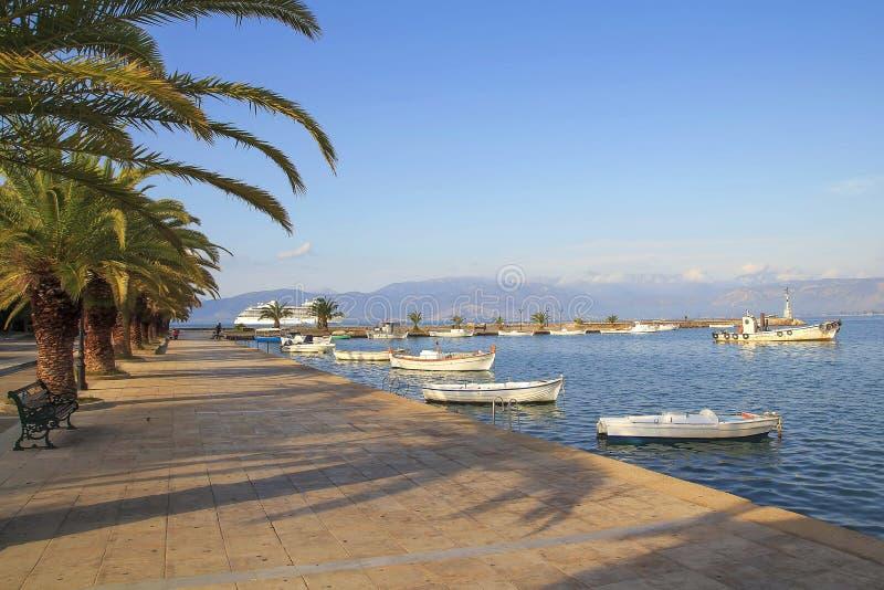 Nafplio è una città del porto marittimo nella penisola del Peloponneso, Grecia immagine stock libera da diritti