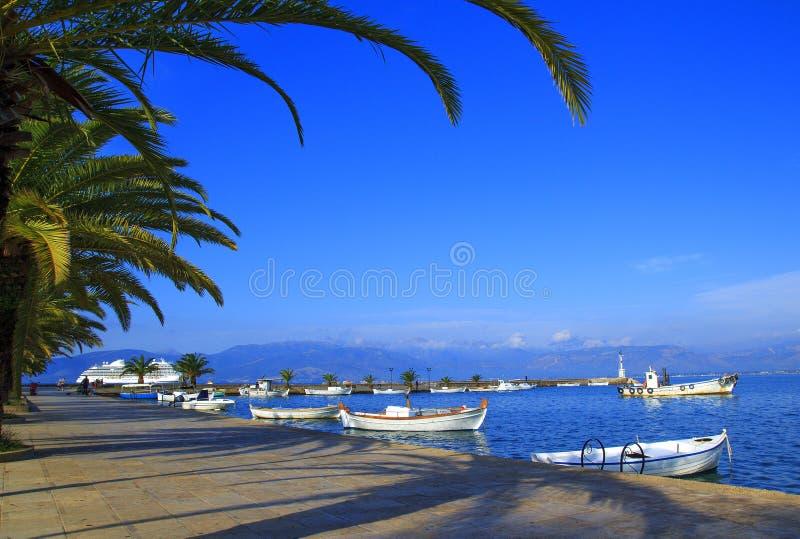 Nafplio jest portu morskiego miasteczkiem w Peloponnese półwysepie, Grecja fotografia stock