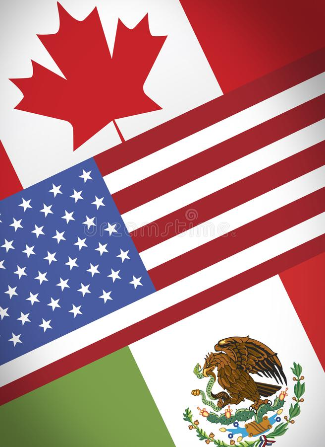 Nafta canada usa mexico stock illustration
