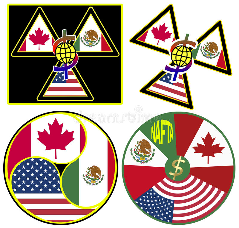 NAFTA Symbols vector illustration
