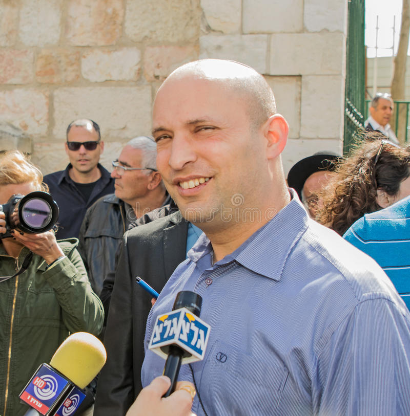 Naftali Bennett. Israel parliamentary elections took place on March 17, 2015. Naftali Bennett, the Economics Minister and head of the religious right-wing Jewish stock photos