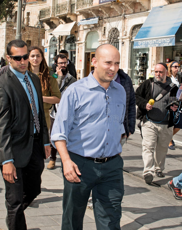 Naftali Bennett. Israel parliamentary elections took place on March 17, 2015. Naftali Bennett, the Economics Minister and head of the religious right-wing Jewish royalty free stock photos