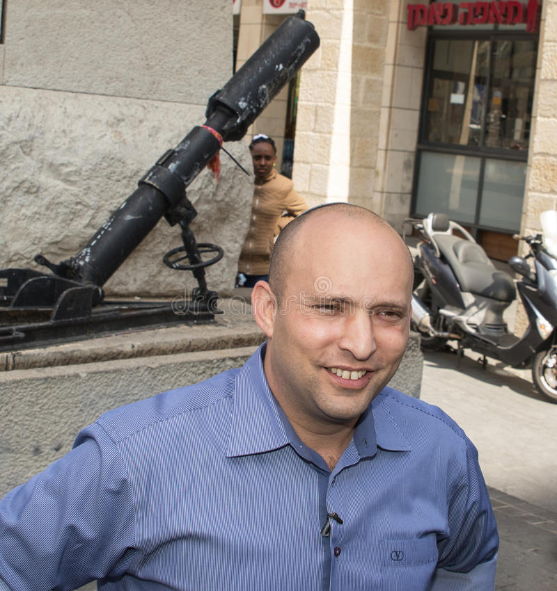 Naftali Bennett. Israel parliamentary elections took place on March 17, 2015. Naftali Bennett, the Economics Minister and head of the religious right-wing Jewish stock photography