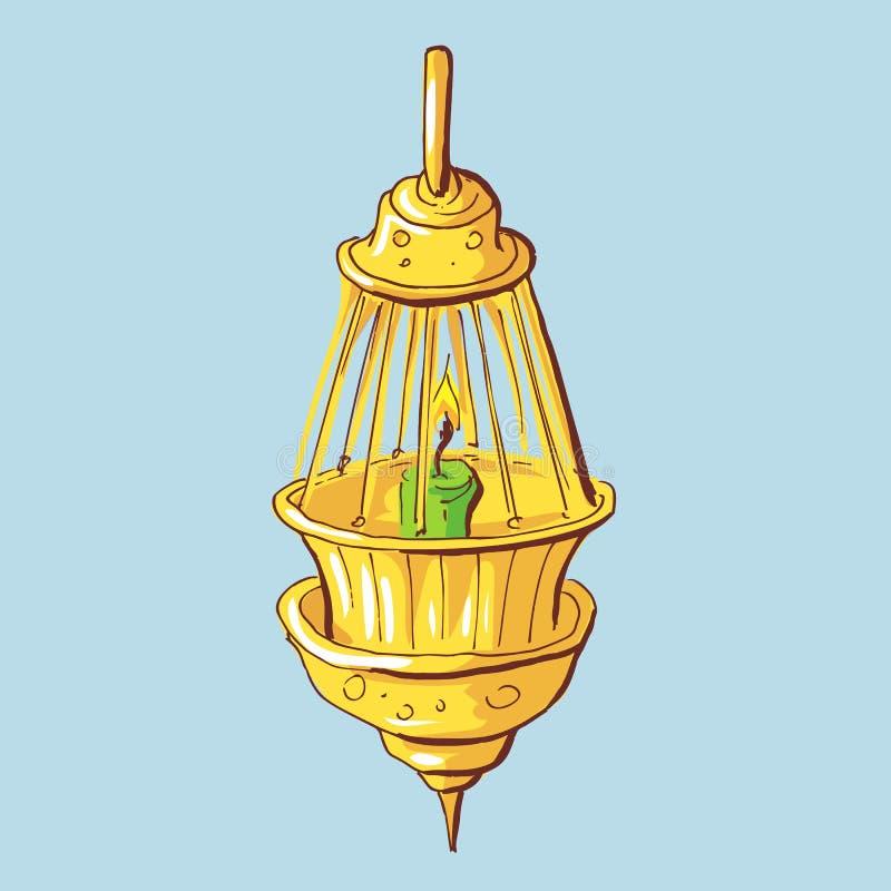 Nafty lampy ikona Kreskówki ilustracja nafty lampa ilustracja wektor
