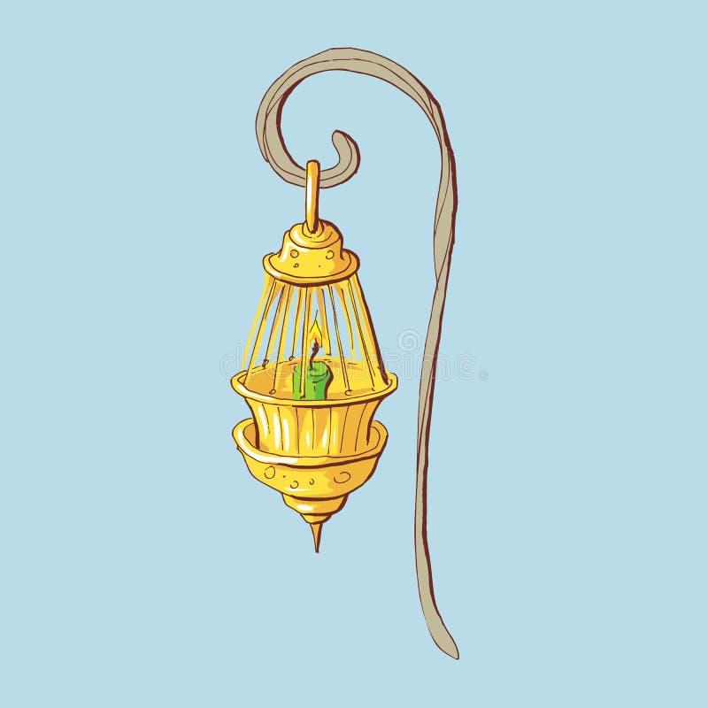 Nafty lampy ikona Kreskówki ilustracja nafty lampa royalty ilustracja