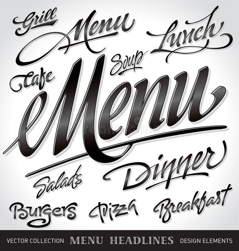nagłówków menu setu wektor ilustracja wektor