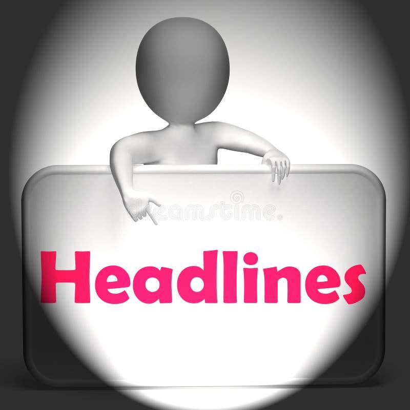 Nagłówka znak Wystawia Medialnego reportaż I wiadomość ilustracja wektor