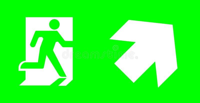 Nagłego wypadku, wyjścia znak bez teksta na zielonym tle dla standar/ zdjęcie stock