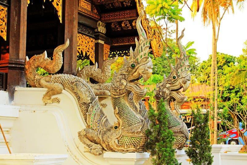 Naga σε Wat Jed Yod, Chiang Mai, Ταϊλάνδη στοκ φωτογραφία με δικαίωμα ελεύθερης χρήσης
