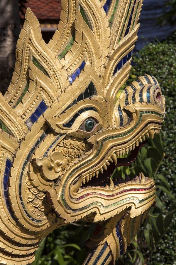 Naga - portone Karan - Chiang Mai - Tailandia di Wat fotografia stock libera da diritti