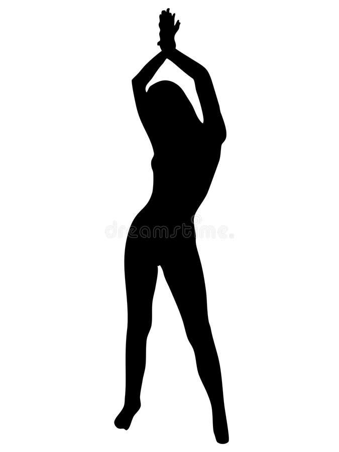 Download Naga dziewczyna ilustracji. Ilustracja złożonej z dziewczyna - 133050