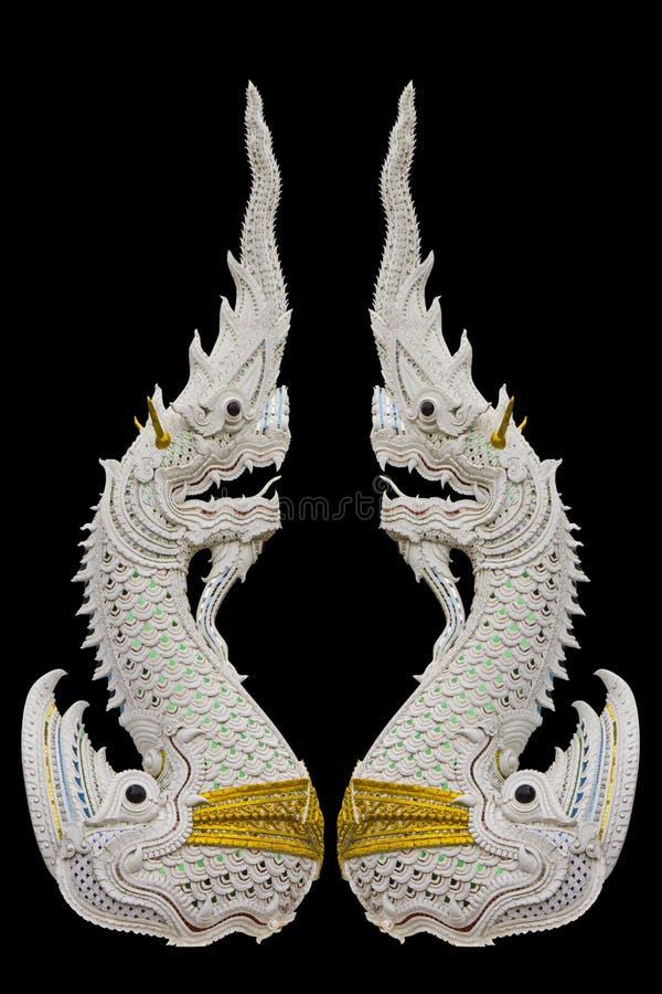 Naga, el rey de la serpiente aislado en negro fotografía de archivo libre de regalías
