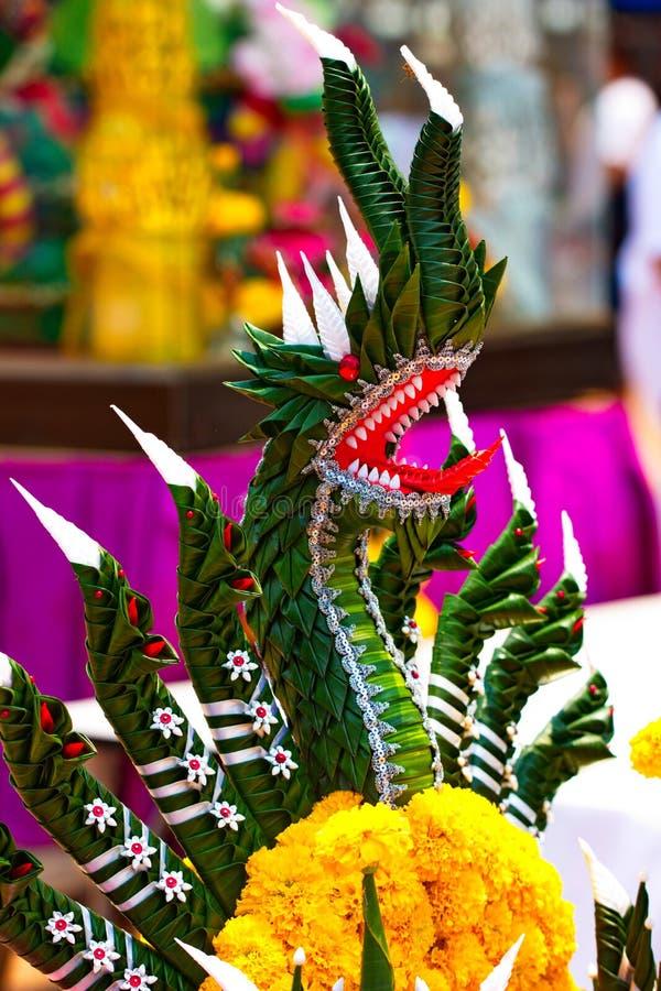 Naga, fatto a mano dalle foglie della banana immagini stock libere da diritti