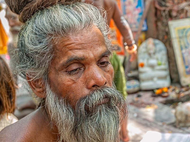 Naga-Kuchenporträt in Haridwar stockfotografie