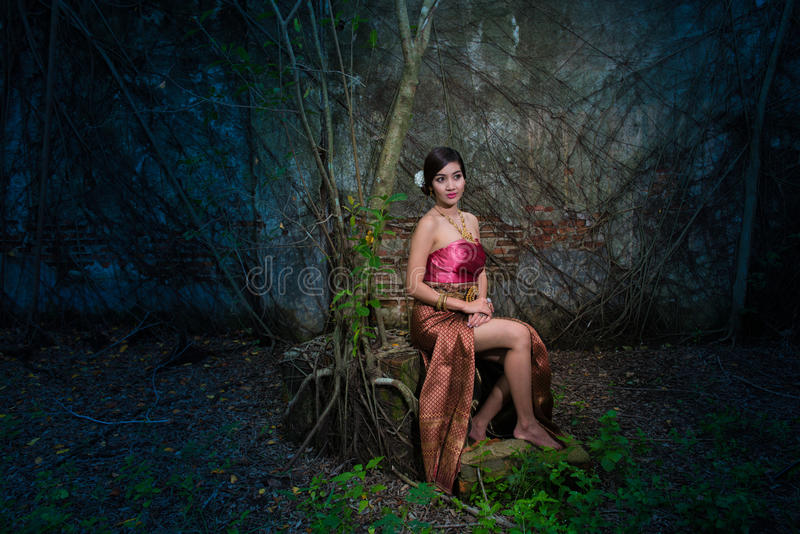 Naga Queen. Is legendary literary Thailand. Naga is goddess snake royalty free stock photo